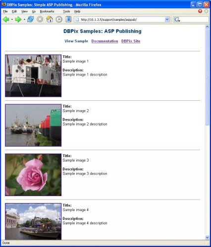 sample screenshot - ASP Image Database Publishing