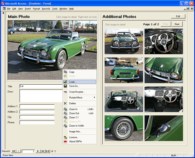 Add Images to Access Easily and Efficiently with DBPix: the Access Image Control